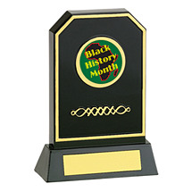 "6 3/4"" Holographic Black Acrylic Trophy"