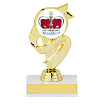 "5 1/2"" Trophy with Ribbon Design"