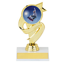 """5 1/2"""" Trophy with Ribbon Design"""