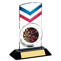 "7"" Holographic Clear Acrylic Chevron Trophy"