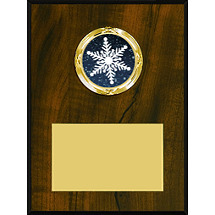 "4 x 6 - 5 x 7"" Walnut-tone Plaque with a Modern Emblem Holder"