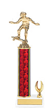 "11-13"" Red and Gold Trophy with 1 Eagle Base"
