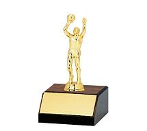 """6"""" Large Walnut-Tone Participation Trophy"""
