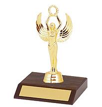 "DINN DEAL! 5 1/2"" Small Walnut-Tone Participation Trophy"