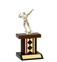 "9 1/4"" Small Diamond Rectangular Column Trophy"