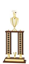 "27-29"" Diamond Trophy - Double Column Base & Cup"
