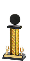 "14-16"" Holographic Black & Gold Trophy with 2 Eagle Base"