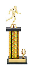 """13-15"""" Holographic Black & Gold Trophy with 1 Eagle Base"""