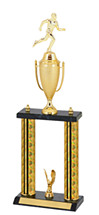 """18-20"""" Holographic Black & Gold Trophy with Cup"""