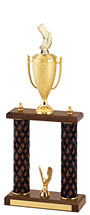 "18-20"" Diamond Cut Trophy with Double Columns"