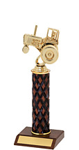 "10-12"" Diamond Cut Trophy with Round Column"