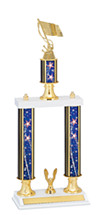 "20-22"" Patriotic Trophy with Double Column Base"