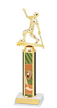 "10-12"" Single Column Baseball Trophy"