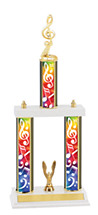 "Music Trophy - 18-20"" Three Column Trophy"
