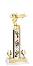 "Pinewood Derby Trophy - 9 1/2-11 1/2"" 2 Eagle Trophy"