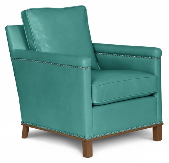 Henry Leather Chair Maine Cottage 174