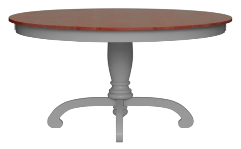 Della Pedestal Dining Table - Cherry Top