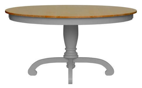 Della Pedestal Dining Table - Oak Top
