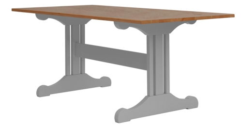 inga trestle dining table cherry top