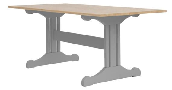 Inga Trestle Dining Table - Maple Top