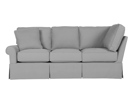 Wilton Skirted Left Arm Facing Corner Sofa