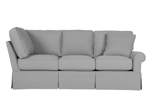 Wilton Skirted Right Arm Facing Corner Sofa