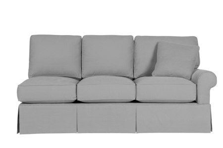 Wilton Skirted Right Arm Facing Sofa
