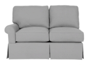 Wilton Skirted Left Arm Facing Loveseat