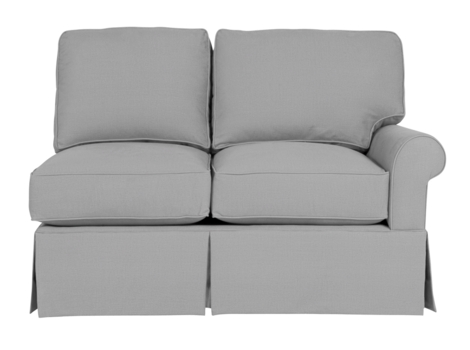 Wilton Skirted Right Arm Facing Loveseat