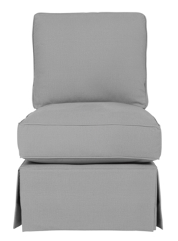 Wilton Skirted Armless Chair