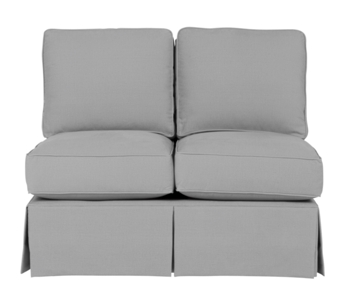 Wilton Skirted Armless Loveseat