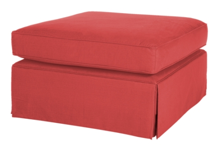Wilton Skirted Cocktail Ottoman