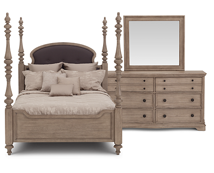 Ashdale Poster Bedroom Set   Furniture Row. Four Poster Bedroom Sets. Home Design Ideas