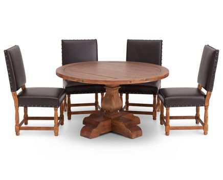 Bellisario 5 Pc Round Upholstered Dining Room Set Furniture Row