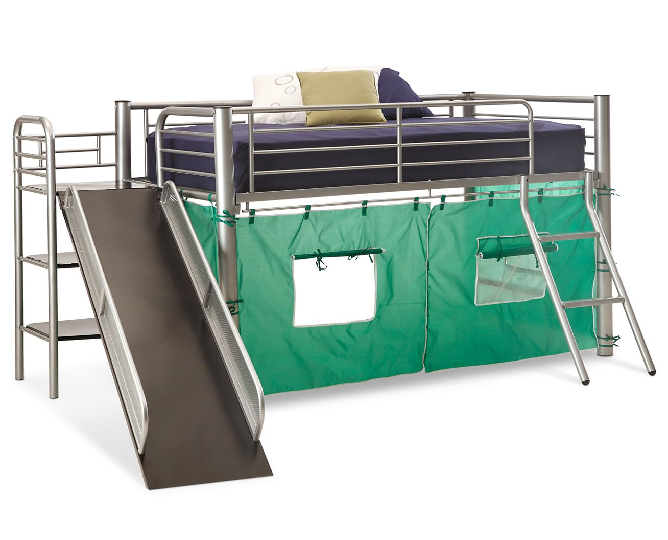 Metal bunk bed with slide - Full Screen Rollover To Zoom