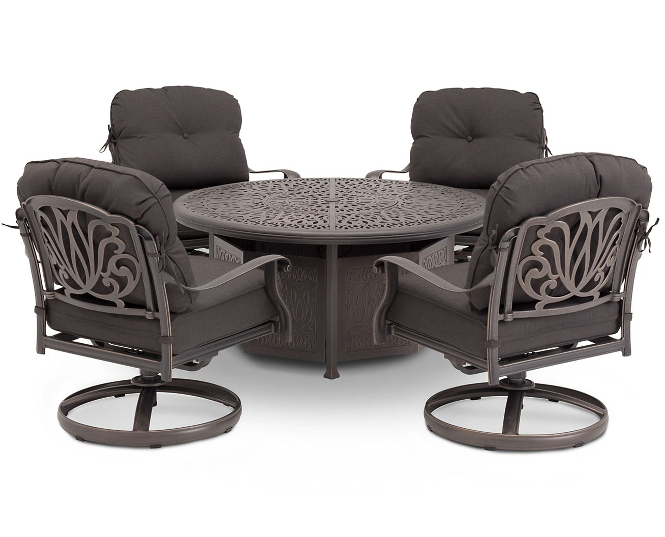 Geneva 5 Pc. Fire Pit Group - Patio Furniture, Outdoor Furniture Furniture Row
