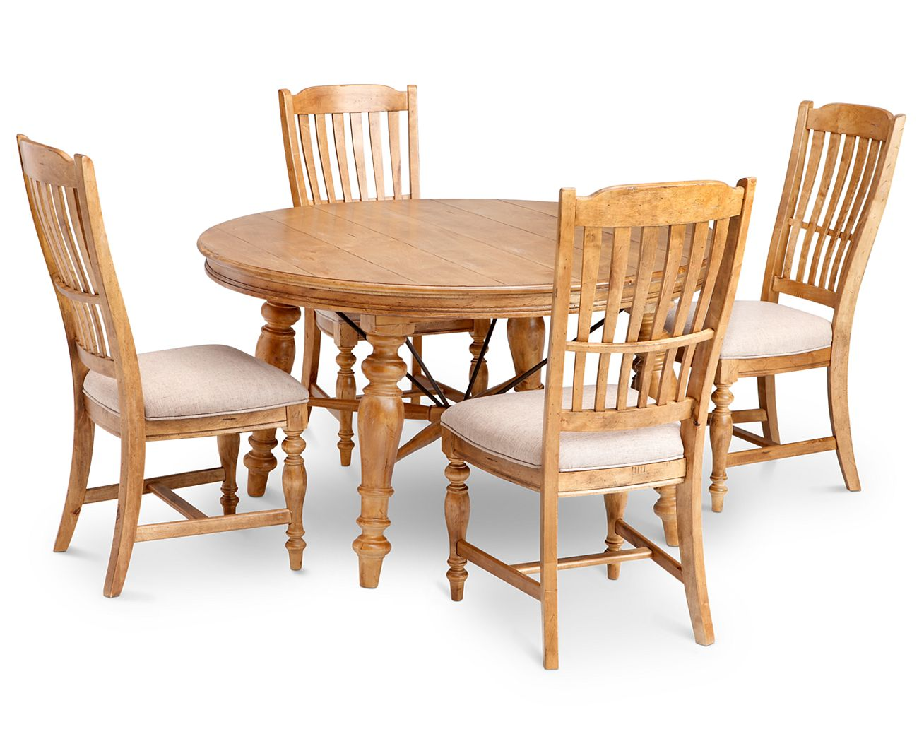 Round Country Kitchen Table Lake House Round Dining Table Furniture Row