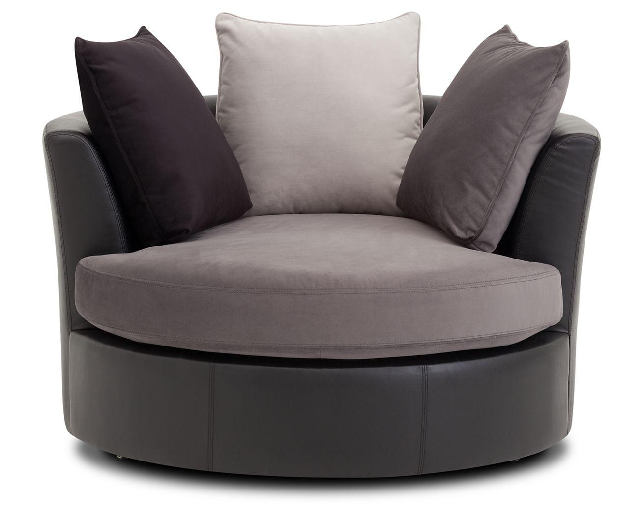 Vintage leather swivel chair - San Tropez Swivel Chair