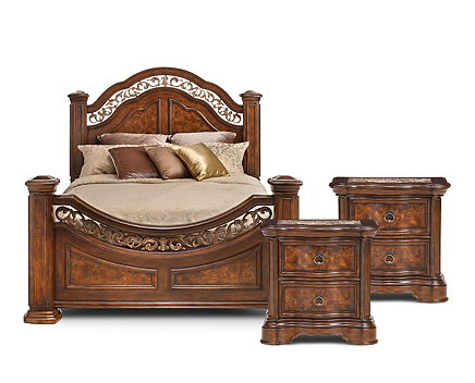 Torreon Poster Bedroom Set - Furniture Row