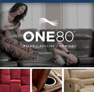 Rockers, Recliners and Reclining Sectionals by ONE80 Furniture
