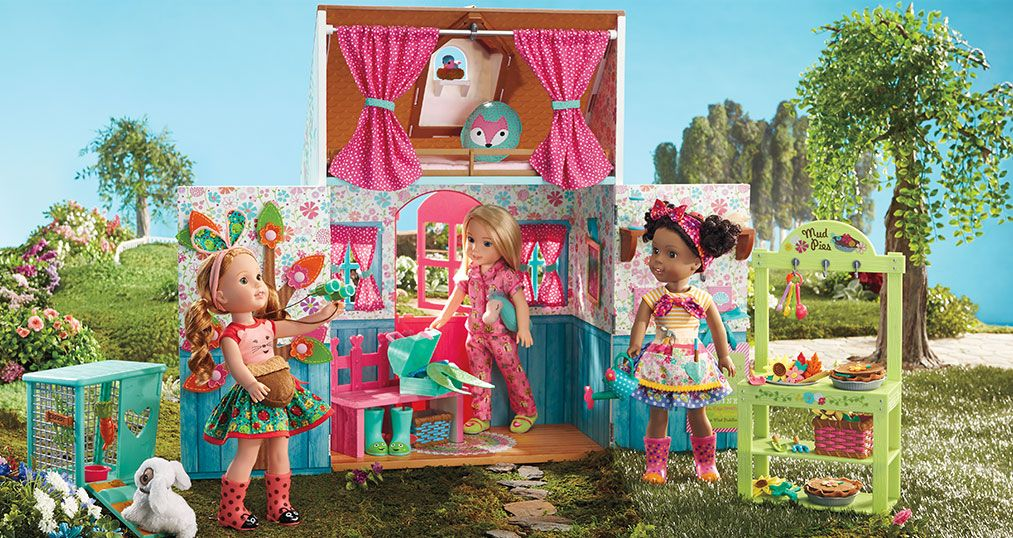 WellieWishers Playhouse Dollset