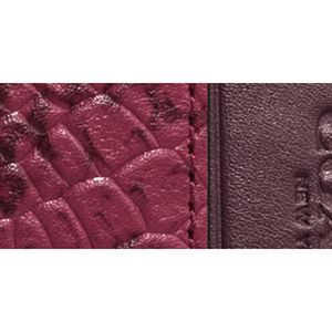 Handbags and Wallets: Li/Cyclamen COACH COLORBLOCK EXOTIC EMBOSSED LEATHER CROSSTOWN CROSSBODY