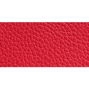 Designer Handbags: Sv/True Red COACH REFINED GRAIN LEATHER L-ZIP WALLET