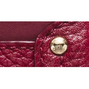 Cross Body Bags: Li/Black Cherry COACH COLORBLOCK LEATHER SWAGGER WRISTLET CROSSBODY