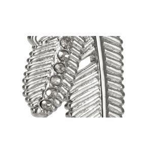 Coach Jewelry & Watches Sale: Silver COACH PAVE MULTI FEATHER NECKLACE