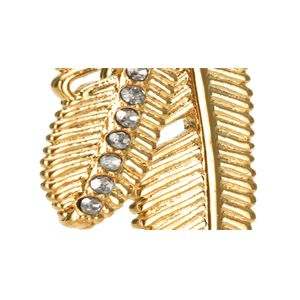 Coach Jewelry & Watches Sale: Gold COACH PAVE MULTI FEATHER NECKLACE
