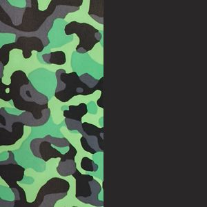 Men's Athletic Underwear: Solid Black/Printed Green Camo Jockey Sport Microfiber Performance Boxer Briefs - 2 Pack
