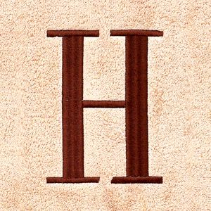 Decorative Bath Towels: H Avanti MONOGRAM TOWELS S