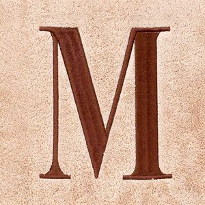 Decorative Bath Towels: M Avanti MONOGRAM TOWELS S