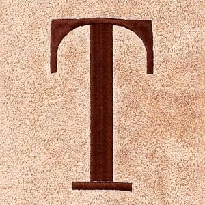 Decorative Bath Towels: T Avanti MONOGRAM TOWELS H